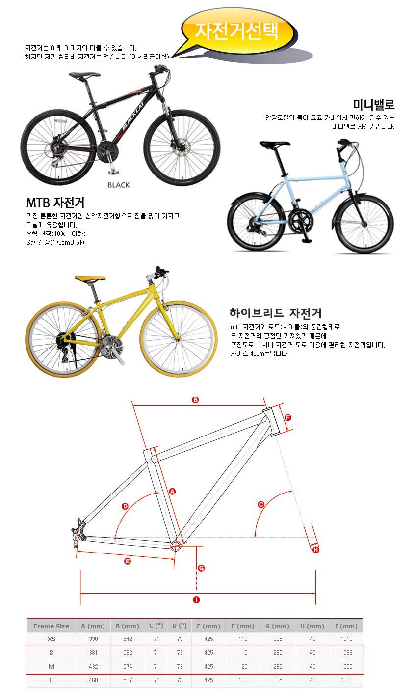 예약자전거선택; mtb/미니벨로